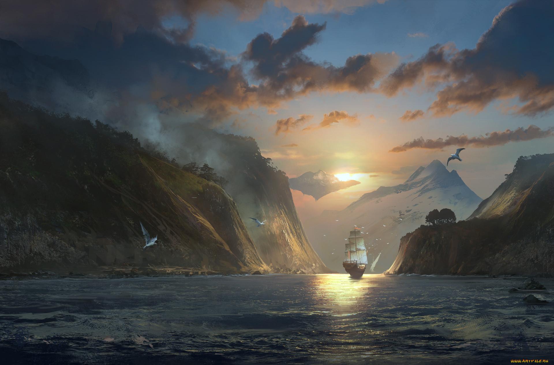 японии картинка корабль море скалы сколько дней максимально